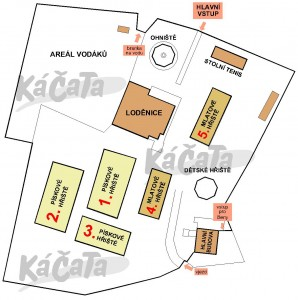 Mapa areálu Káčata